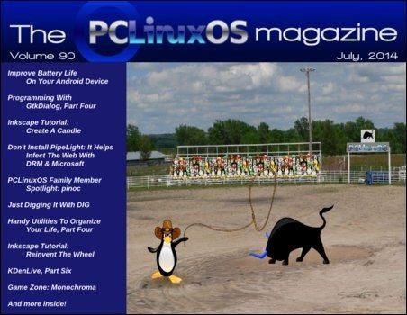 The PCLinuxOS Magazine - lipiec 2014 - okładka