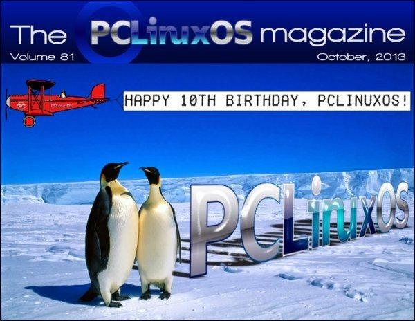 The PCLinuxOS Magazine - październik 2013 - okładka