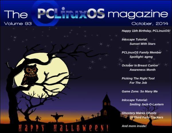 The PCLinuxOS Magazine - październik 2014 - okładka