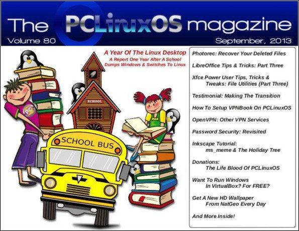 The PCLinuxOS Magazine - wrzesień 2013 - okładka