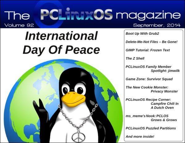 The PCLinuxOS Magazine - wrzesień 2014 - okładka