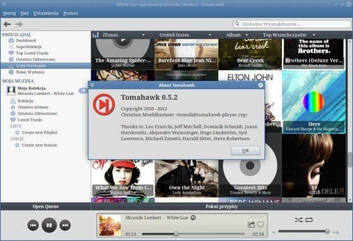 Tomahawk 0.5 - wersja aplikacji