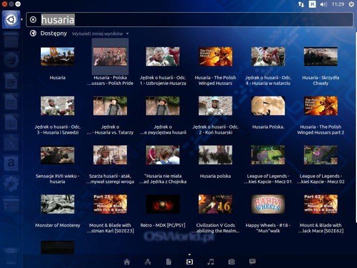 Ubuntu 14.04 LTS - wyszukiwanie wideo w sieci