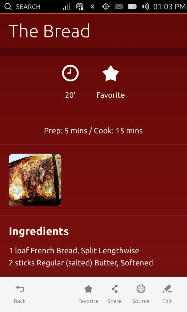 Ubuntu App Showdown 2013 - Saucy Bacon i pasek narzędziowy