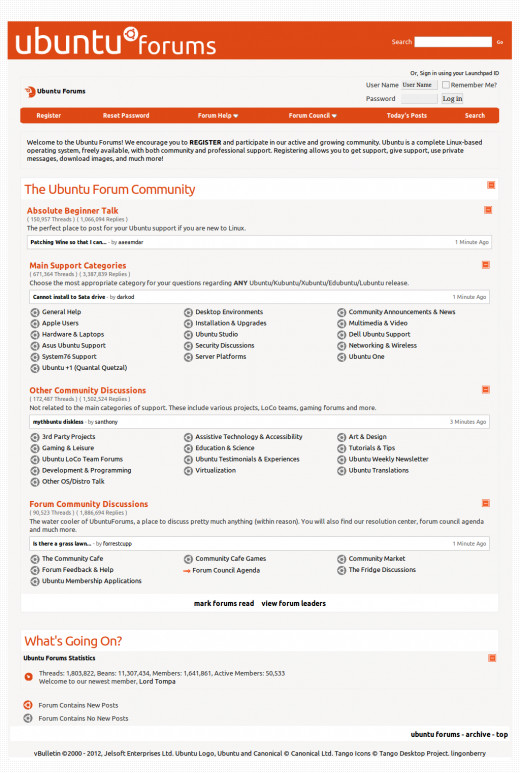 Ubuntu Forums - nowy temat forum