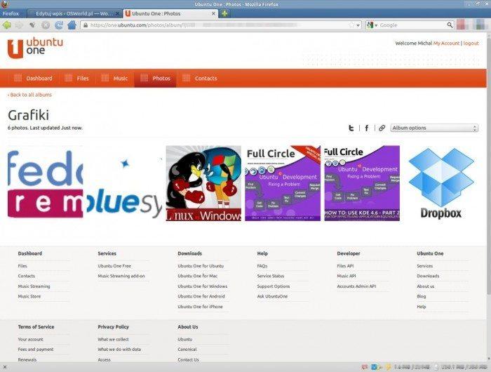 Ubuntu One Photos - miniaturki zdjęć