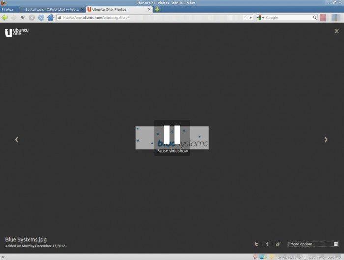 Ubuntu One: Photos - pokaz slajdów