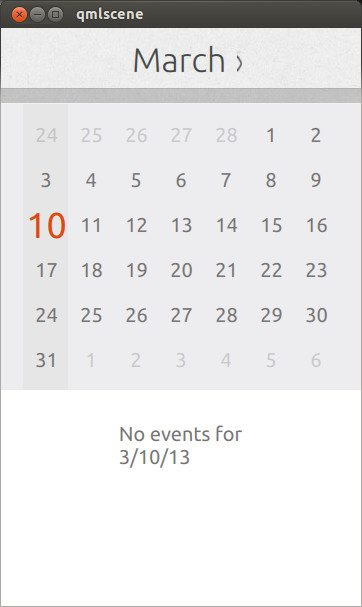 Ubuntu Phone Kalendarz