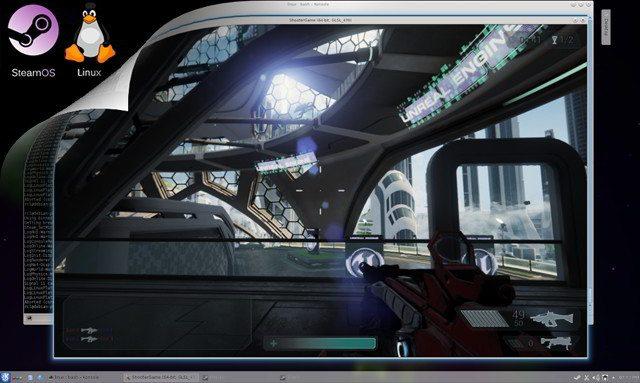 Unreal Engine 4.1 - gra uruchomiona na SteamOS