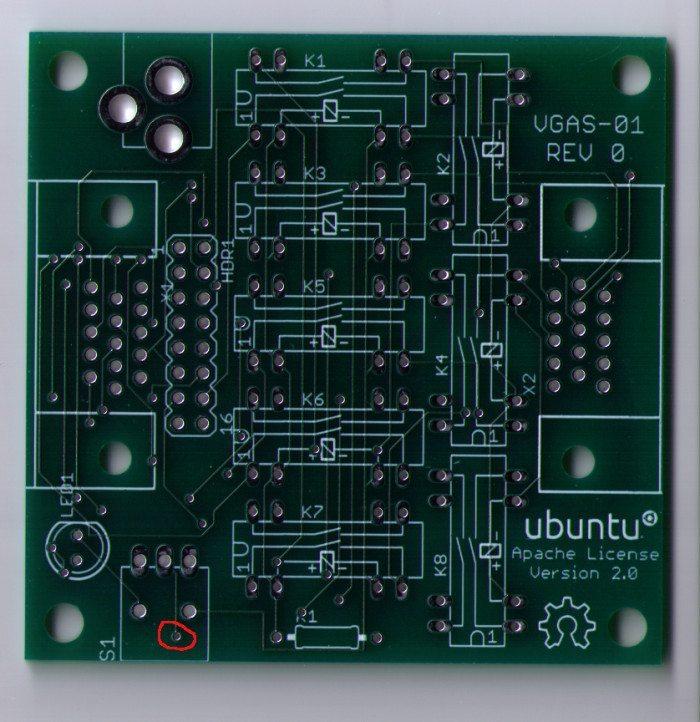 VGAS-01 - płyta główna
