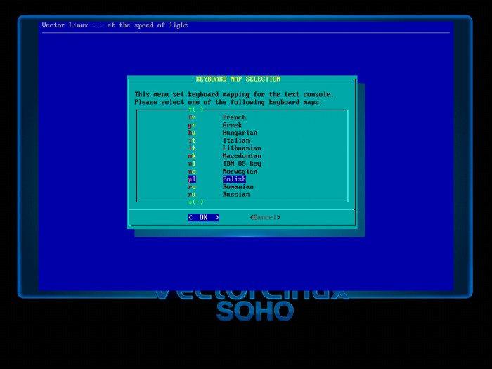 VectorLinux 7.0 SOHO - konfiguracja systemu