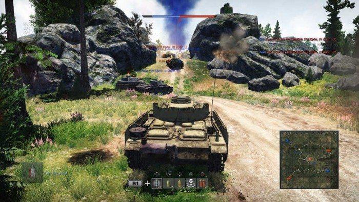 War Thunder – widok z czołgu