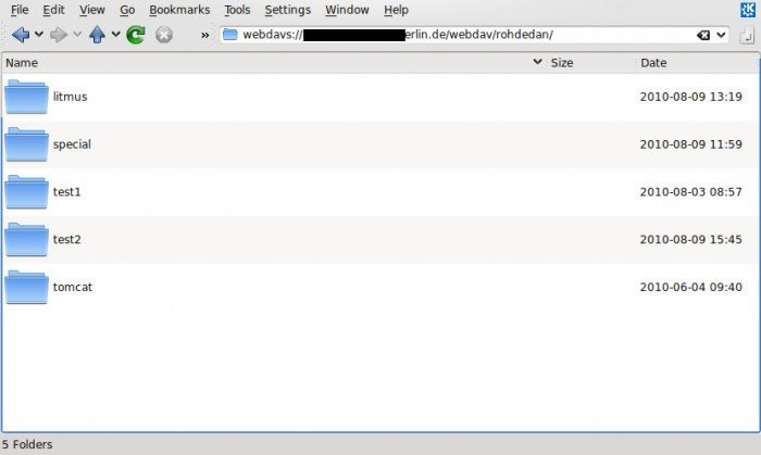 WebDAV CGI - klient webowy