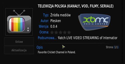 XBMC telewizja internetowa