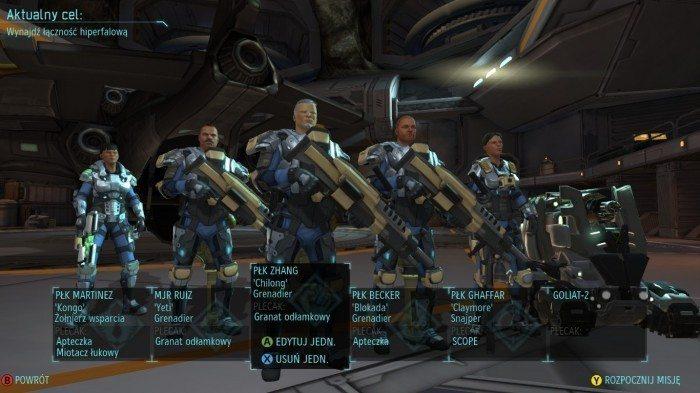 XCOM Enemy Unknown – podgląd całej drużyny