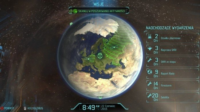 XCOM Enemy Unknown – widok globalny na całą planetę