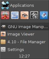 Xfce 4.10 - tryb panelu Deskbar