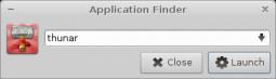 Xfce 4.10 - wyszukiwanie aplikacji