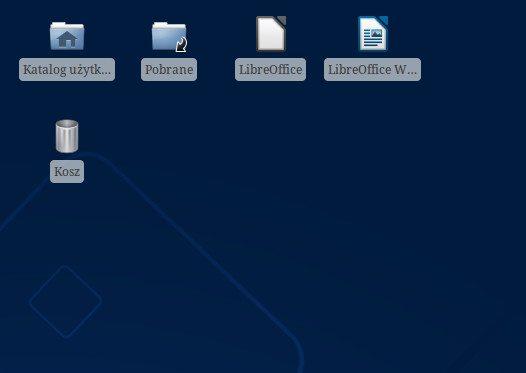 Xfce - usuwanie obramowań wokół napisów - z obramowaniem