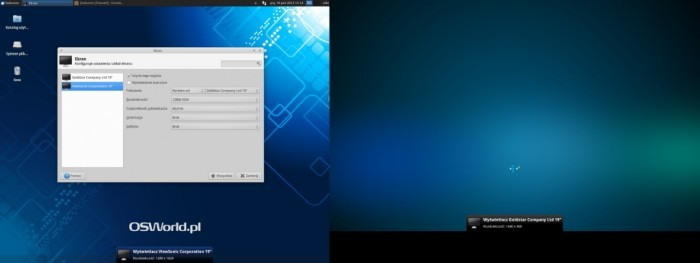 Xubuntu 13.10 - dwa monitory