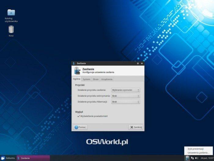 Xubuntu 14.10 - Zasilanie - Ogólne
