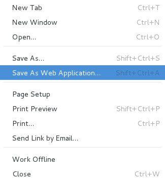 Zapisz jako aplikację webową