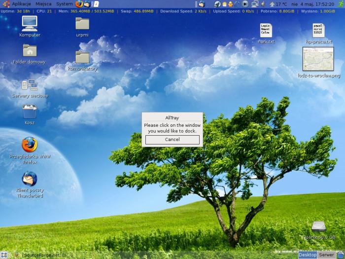 AllTray - wybór okna aplikacji
