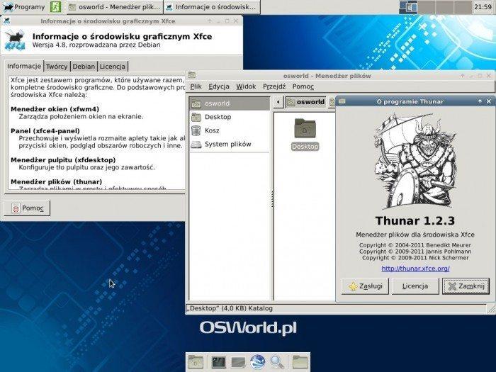 aptosid 2013-01 Xfce - Xfce i Thunar
