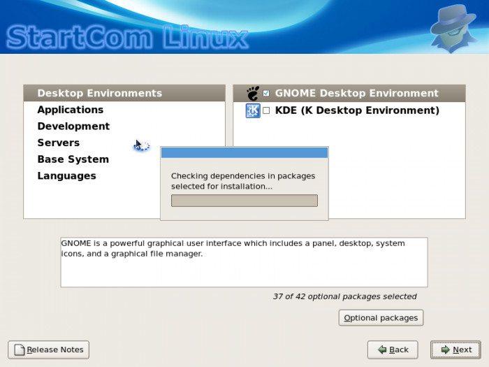 StartCom Enterprise Linux - Instalacja