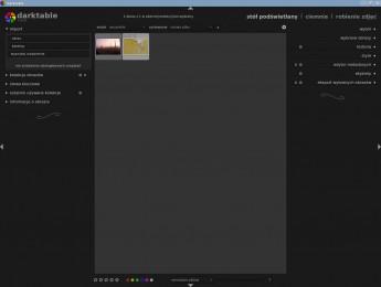 darktable 1.1 - stół podświetlany