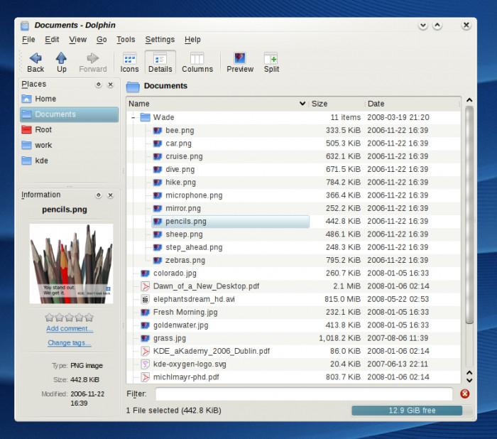 KDE 4.1 Beta 1 - Dolphin
