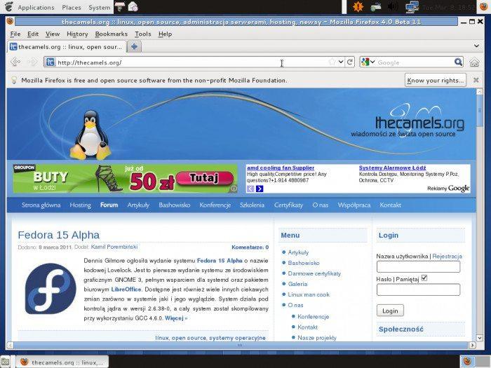 Fedora 15 Alpha