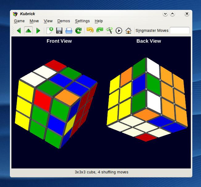 KDE 4.1 Beta 1 - Kubrick