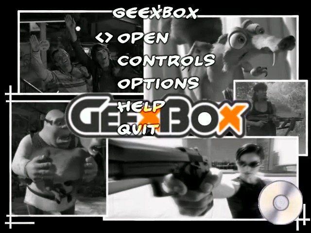 GeeXBoX - Menu