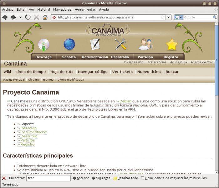 Canaima - Przeglądarka internetowa