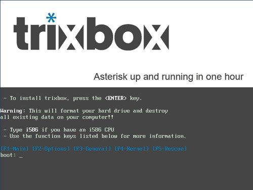 trixbox - Instalacja