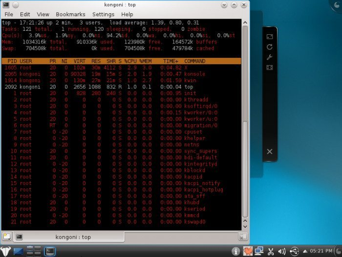 Kongoni GNU/Linux 2011 Beta 1