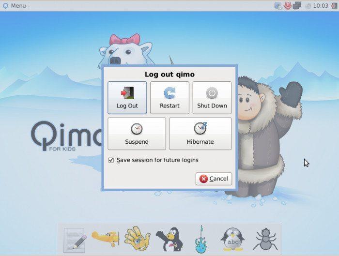 Qimo 4 Kids - Zamykanie systemu