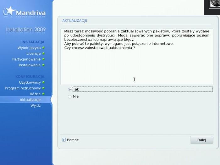Mandriva 2009.0 - Aktualizacja