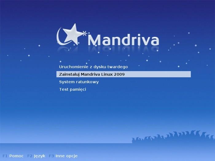 Mandriva 2009.0 - Boot Menu