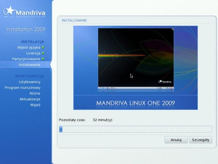 Mandriva 2009.0 - Instalacja