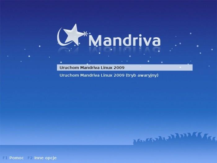 Mandriva 2009.0 - Uruchamianie