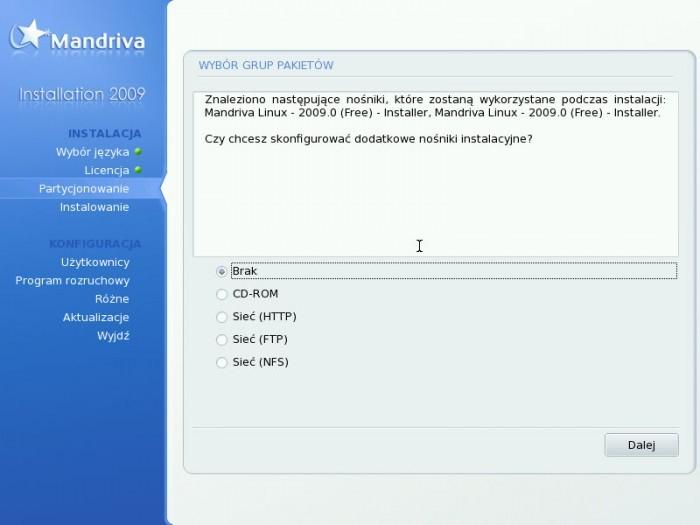 Mandriva 2009.0 - Dodatkowe nośniki