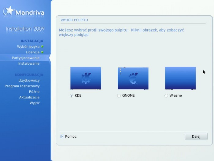 Mandriva 2009.0 - Środowisko graficzne