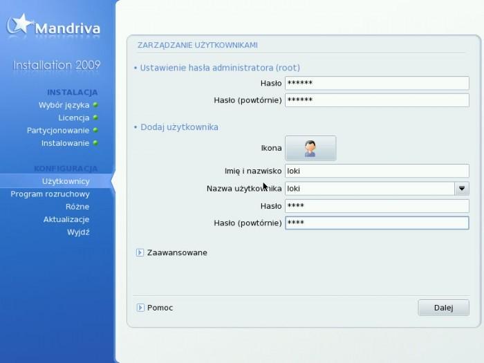 Mandriva 2009.0 - Użytkownicy