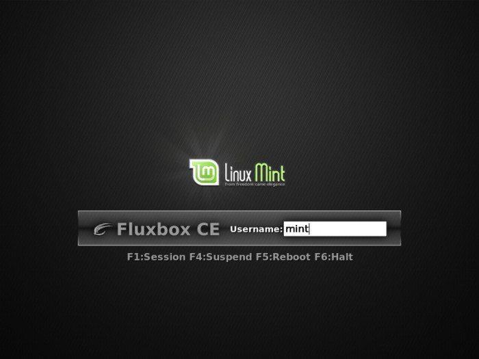 Linux Mint - Ekran logowania