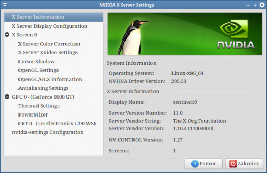 nVidia Linux Display Driver 295.53