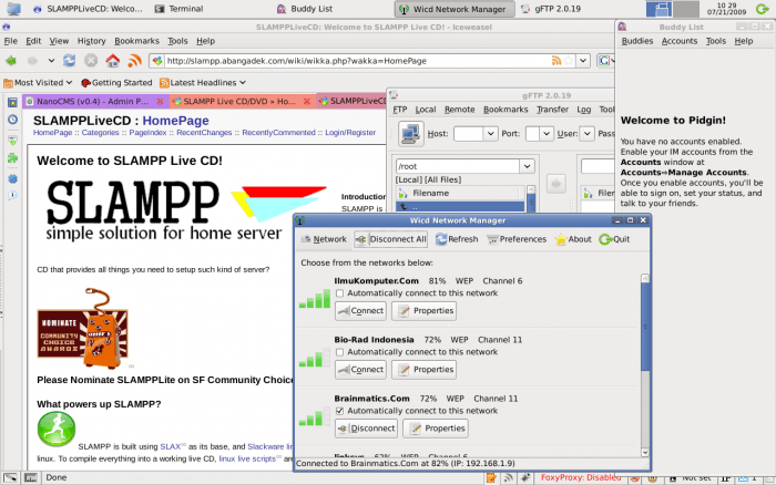 SLAMPP - Sieć