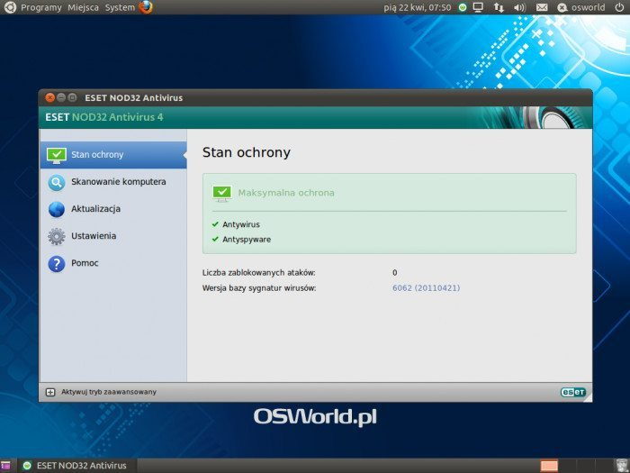 NOD32 Antivirus for Linux Desktop