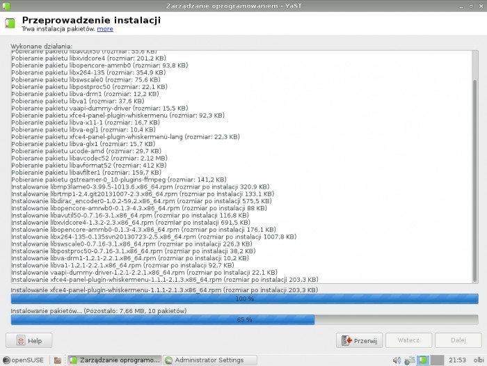 openSUSE 13.1 - Zarządzanie oprogramowaniem - instalacja